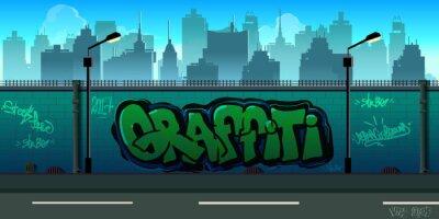 Fototapeta Tła ścienne graffiti, sztuka miejska