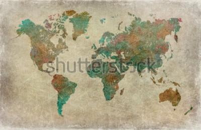 Fototapeta tło wzór mapy świata