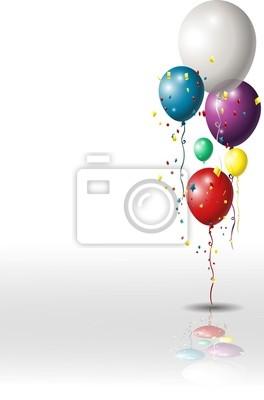 Fototapeta tło z kolorowych balonów kosmetycznych