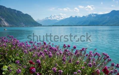 Fototapeta to jest zdjęcie góry krajobrazowej w Szwajcarii