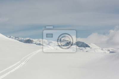 Fototapeta Tor narciarski w śniegu