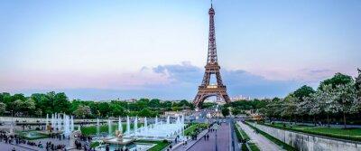 Fototapeta Tour Eiffel au Crépuscule