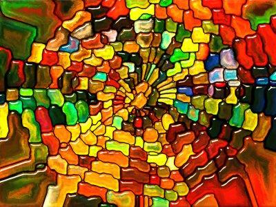 Toward digital glass Fototapeta • Fototapety szkła ołowiowego, głęboki ...