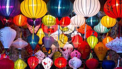 Fototapeta Tradycyjne lampiony jedwabiu w Hoi An Ancient Town, Wietnam.