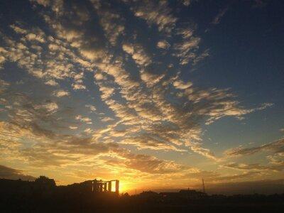 Fototapeta tramonto nuvole