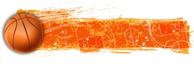 Fototapeta transparent puste pole do koszykówki