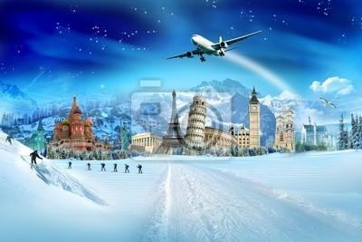 Travel - wakacje zimowe, zabytki i góry świata