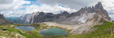 Fototapeta Trekking w Tre Cime Parku Narodowego, Dolomity