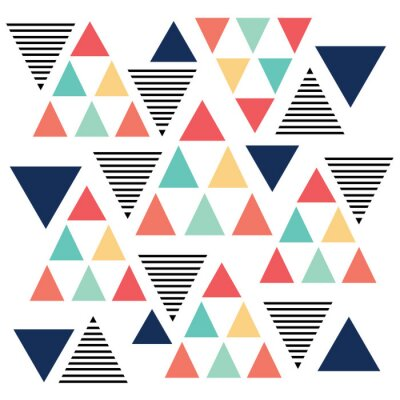 Fototapeta Triangle pattern color variation