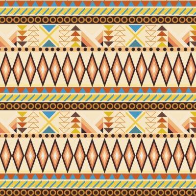 Fototapeta Tribal etniczne szwu wzór paskiem. próbki włączone.