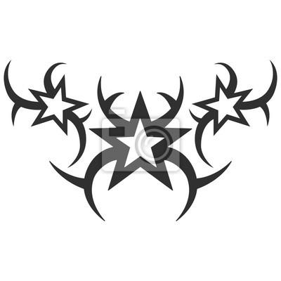 Fototapeta Tribal Tatuaż Ilustracji Wektorowych Bez Przejrzystości Czarny
