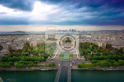 Trocadero i panorama Paryża