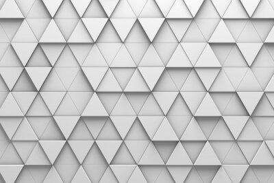 Fototapeta Trójkątne płytki 3D Pattern Wall