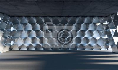 trójkątny geometryczny pokój