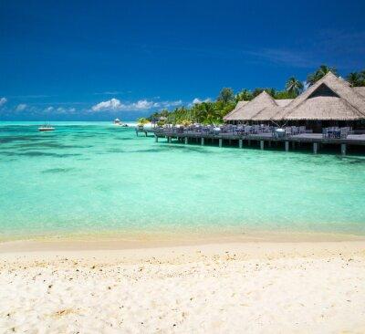 Fototapeta tropikalnej plaży na Malediwach