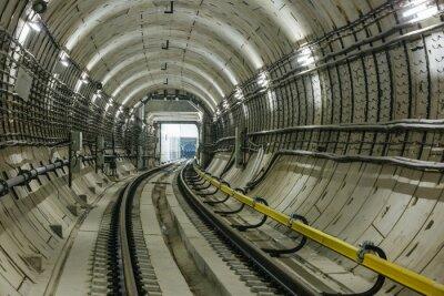Fototapeta tunel metra