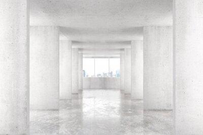 Fototapeta Tunel w stylu loft z wielu ścian w lekkiej pustym budynku B