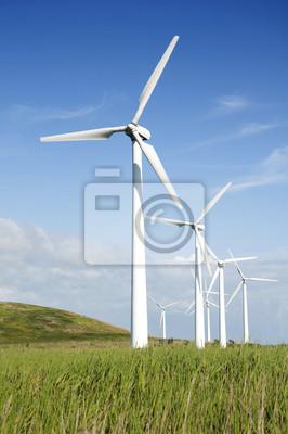 Fototapeta turbiny wiatrowe