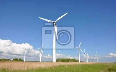 Fototapeta Turbiny wiatrowe farmy