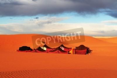 Fototapeta Turystyczny obóz na pustyni Sahara