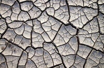 Fototapeta Ty ziemi gliny do suchej sezonie letnim