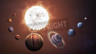 Fototapeta Układu Słonecznego i przestrzeni obiektów. Elementy tego zdjęcia dostarczone przez NASA