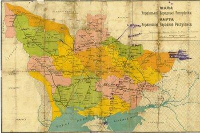 Fototapeta Ukraina rocznika mapę