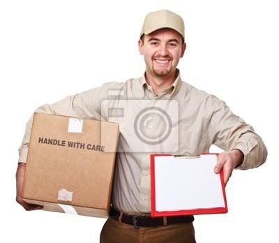 uśmiecha się mężczyzna dostawy