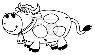 Usmiechnieta Krowa Kolorowanki Fototapeta Fototapety Rozmyslac