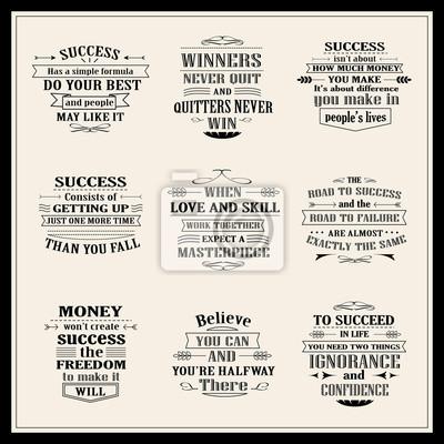 Fototapeta Ustawić Sukcesu I Inspirujące Cytaty Motywacyjne