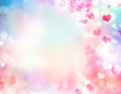 Fototapeta Valentine niewyraźne tło serca.