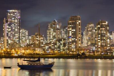 Fototapeta Vancouver Skyline i żaglówkę