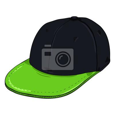 b51bd56cf8144d Fototapeta Vector Cartoon BlackRetro Czapka z daszkiem z płaskim szczytem. Czapki  hip-hop.