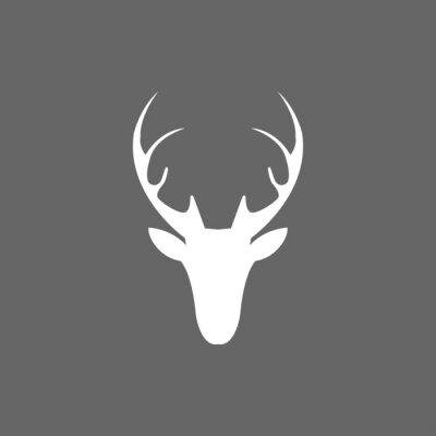 Fototapeta Vector christmas ikony głowy jelenia