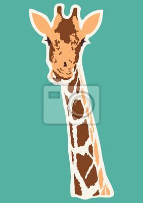 Fototapeta vector giraffe abstract illustration