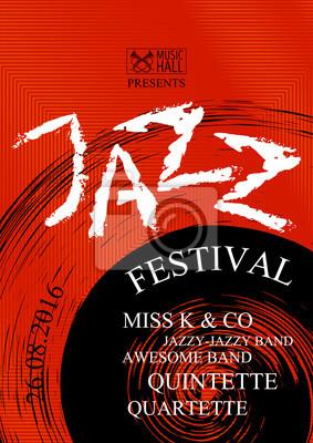 Fototapeta Vector Jazz Rock Lub Blues Plakat Muzyczny