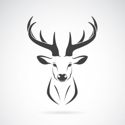 Fototapeta Vector obraz wzoru głowy jelenia na białym tle