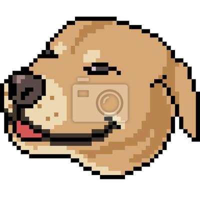 Fototapeta Vector Pixel Art Pies Uśmiech