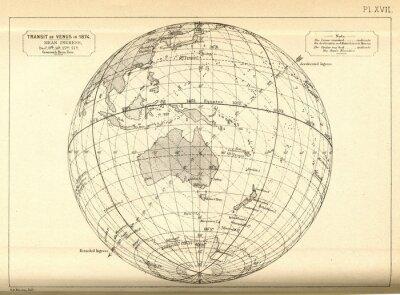 Fototapeta Vintage astronomia / tranzyt Wenus