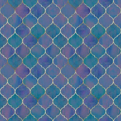 Fototapeta Vintage decorative grunge indian, moroccan seamless pattern