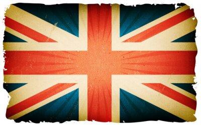 Fototapeta Vintage English Flag tle plakatu