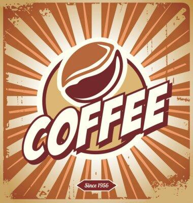 Fototapeta Vintage kawy Znak