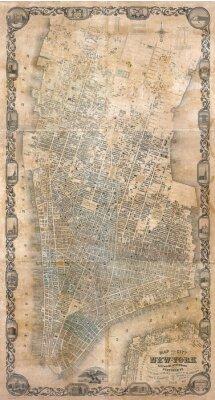 Fototapeta Vintage Mapa Nowego Jorku