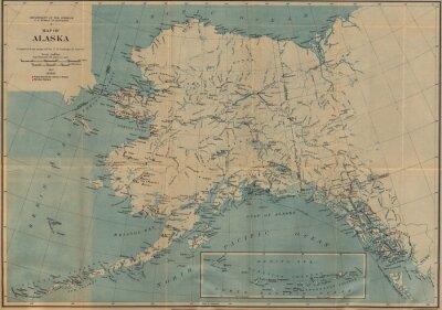 Fototapeta vintage mapie
