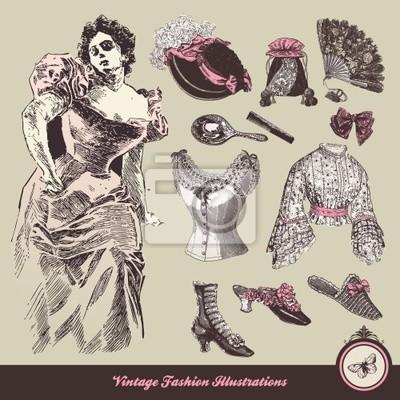 Vintage mody - kolekcja ubrania i akcesoria