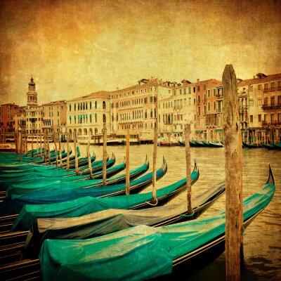 Fototapeta Vintage obraz Canal Grande, Wenecja