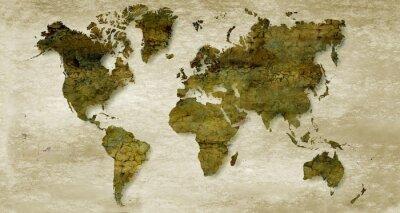 Fototapeta Vintage sepia world map background