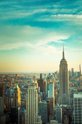 Fototapeta Vintage stonowanych widoku Nowego Jorku od midtown Manhattan