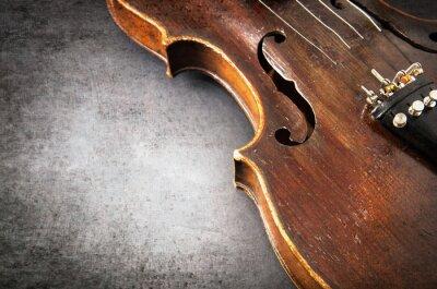 Fototapeta Violin music instrument of orchestra closeup