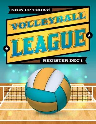 Fototapeta Volleyball League Flyer Illustration